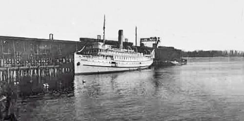 Old ship docked at Wharf