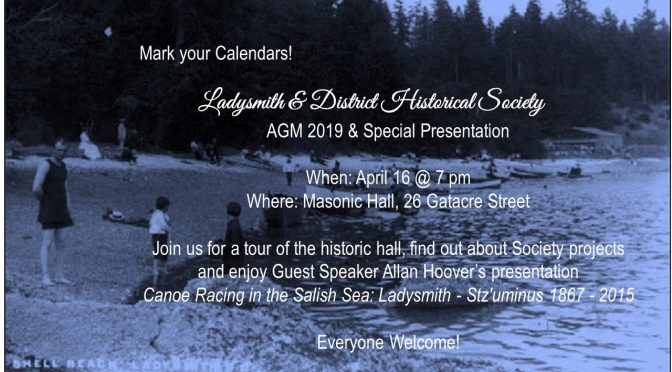 AGM –  APRIL 16, 2019, at 7p.m.