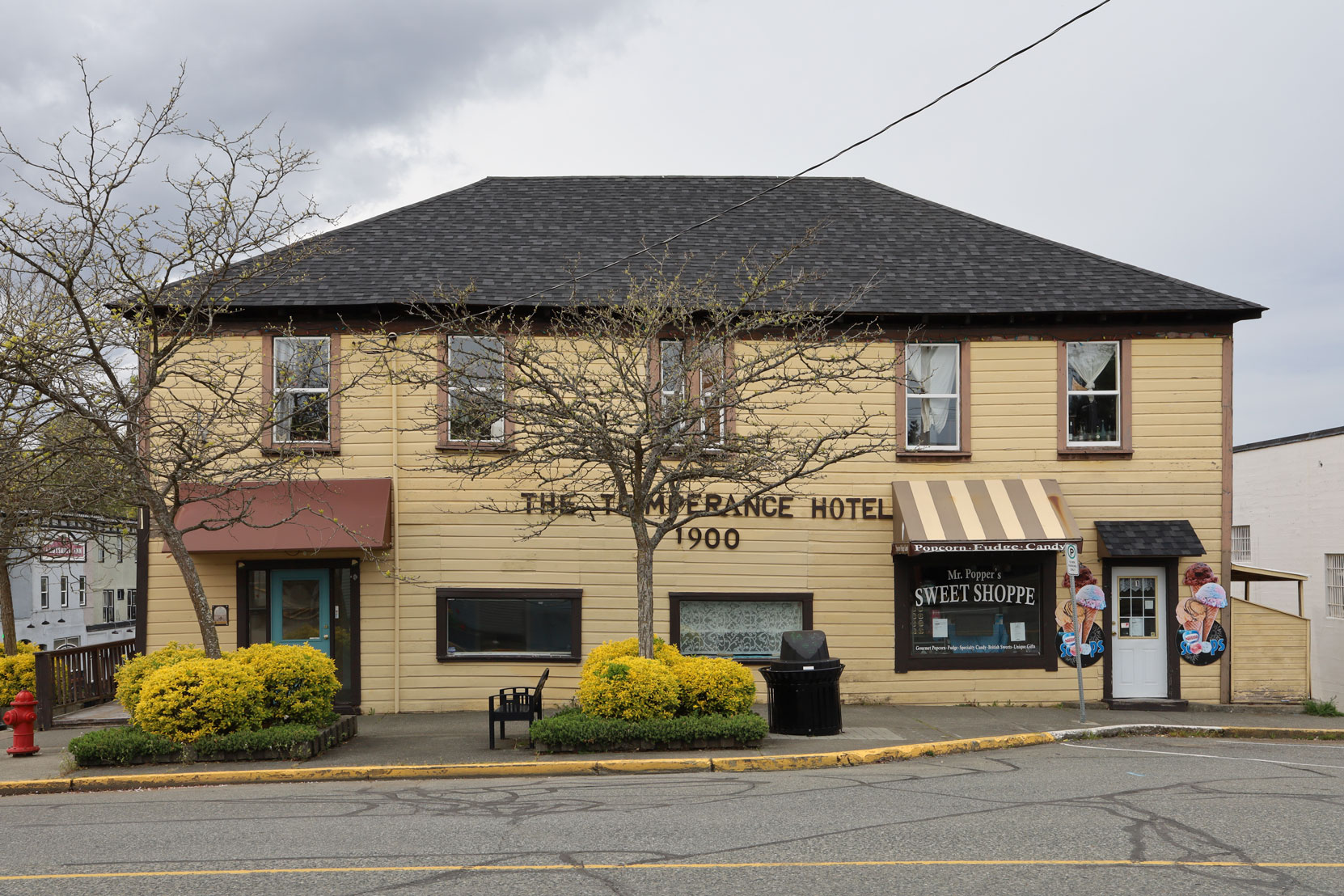 32 High Street in downtown Ladysmith was originally built in 1904 as the Temperance Hotel.
