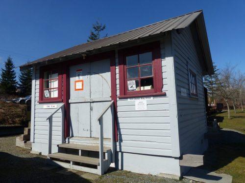 original first aid shed Comox Logging & Railway Co.