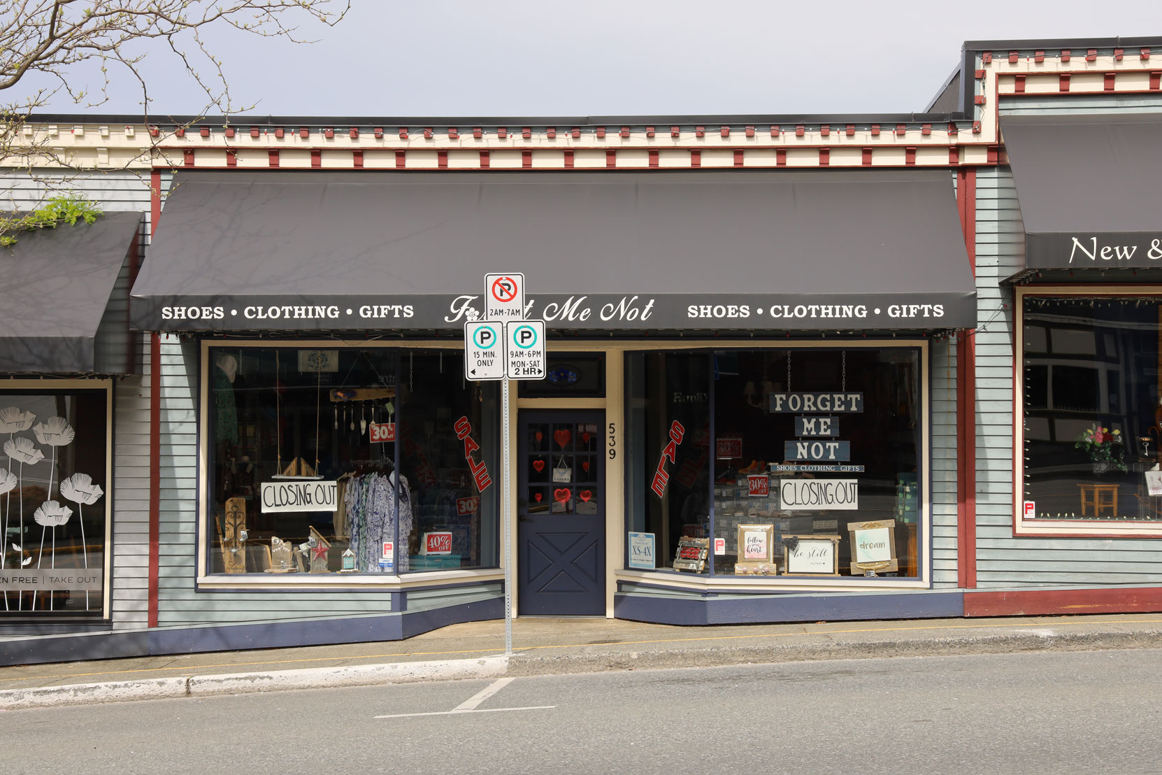 539 1st Avenue in downtown Ladysmith is one of four store fronts in a building originally built in 1945.