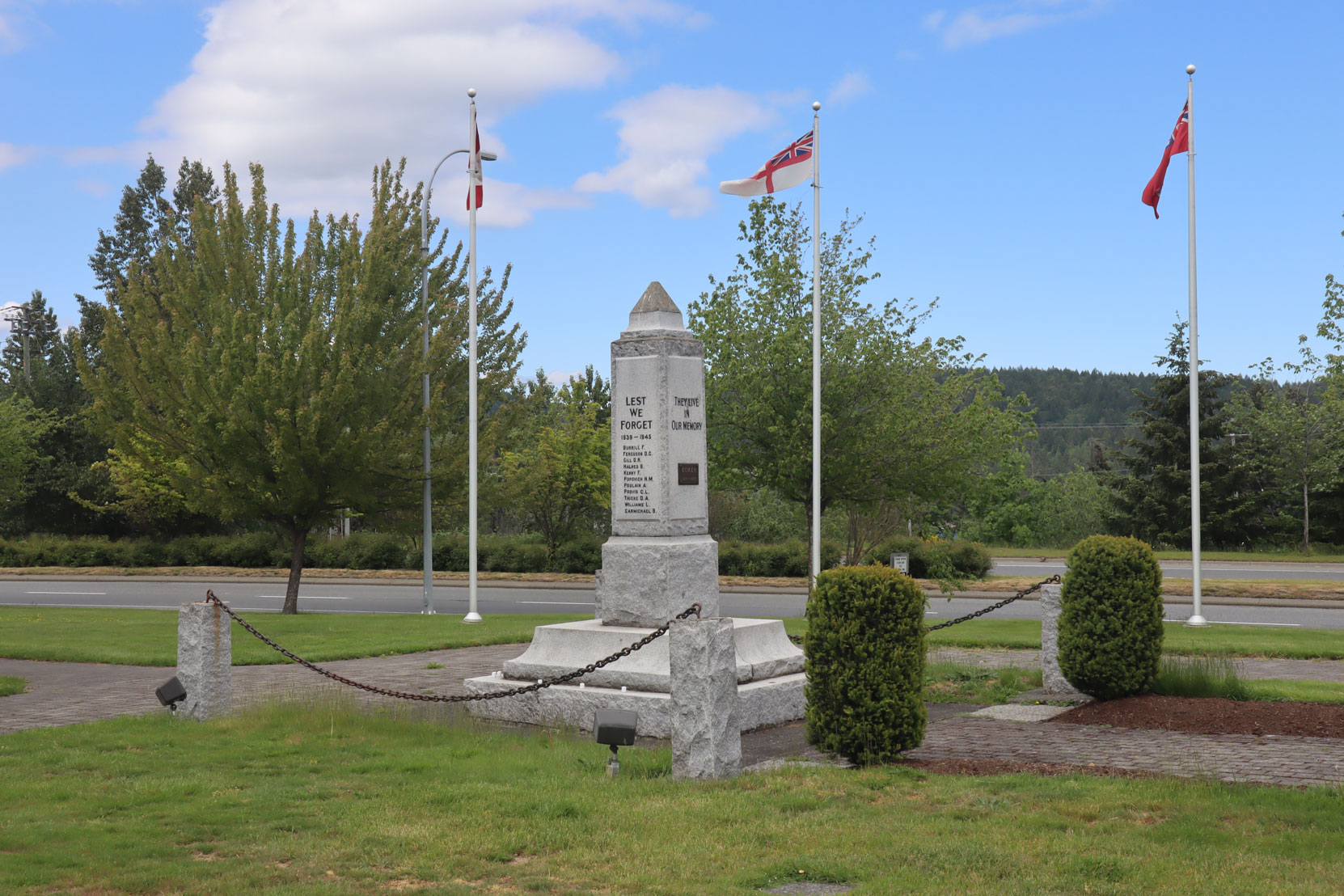 The Cenotaph in Ladysmith, B.C.